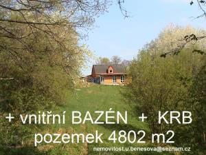 Rod.dům(novostavba)nedaleko Prahy,320m2,pozemek4802m2+bazén+krb