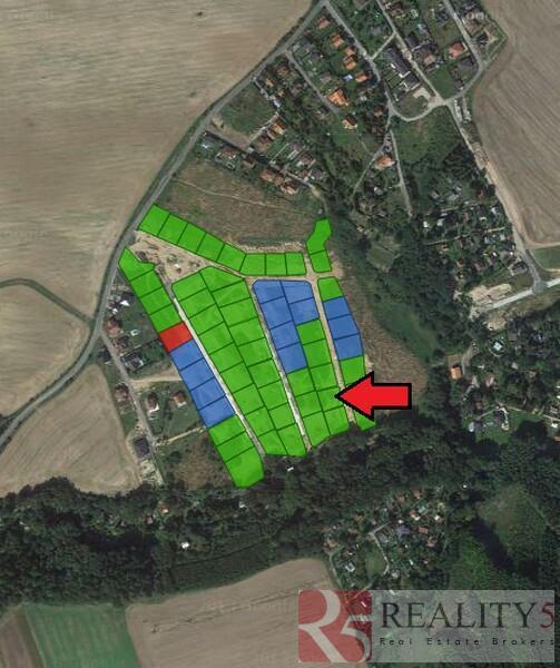 Prodej zasíťovaného pozemku 814 m2, Doubravčice