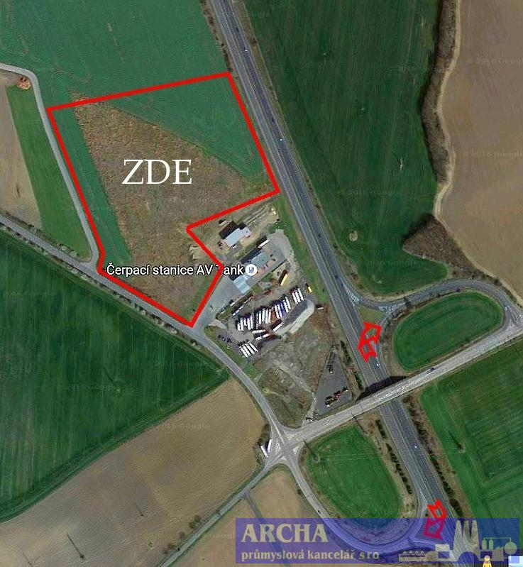 Prodej pozemku 15 000 až 40 000 m2, Praha Západ, Exit R7 Kladno
