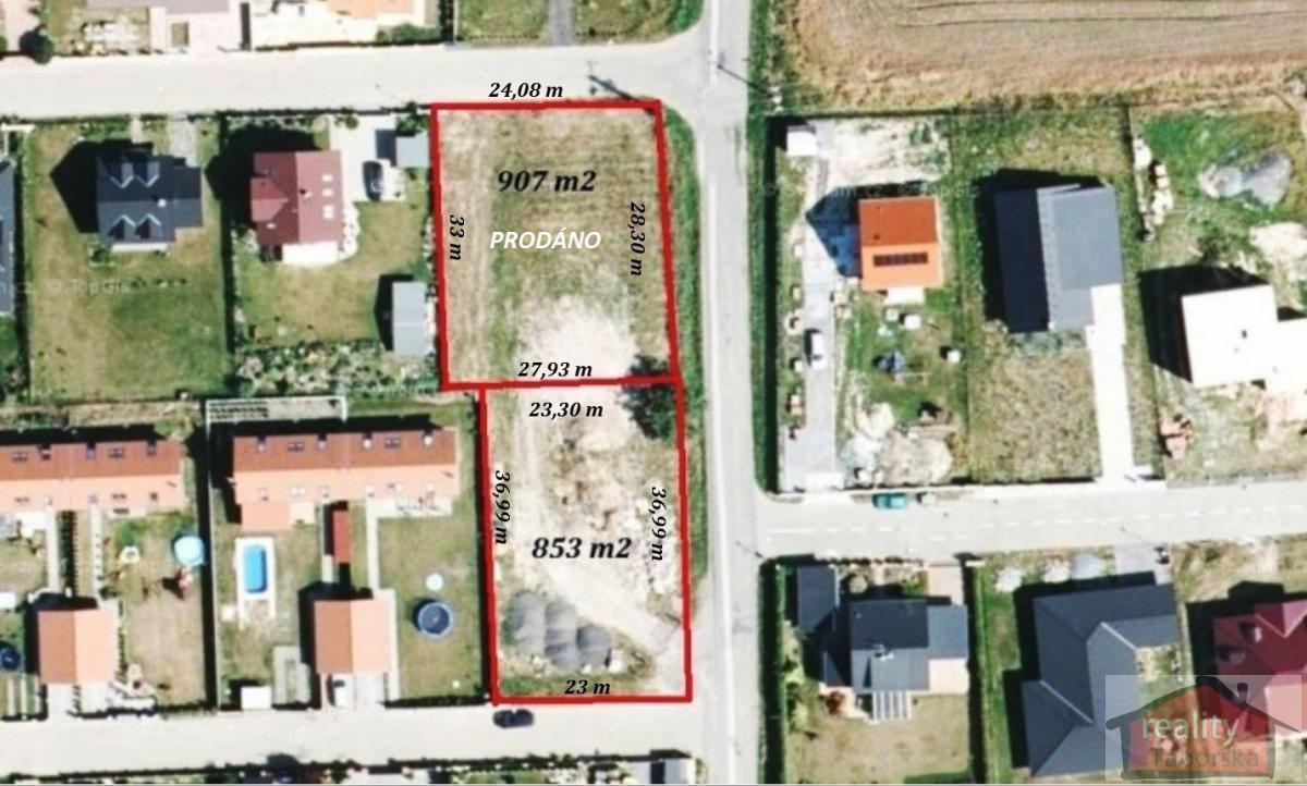 Stavební pozemek 853 m2, Babice, Praha východ