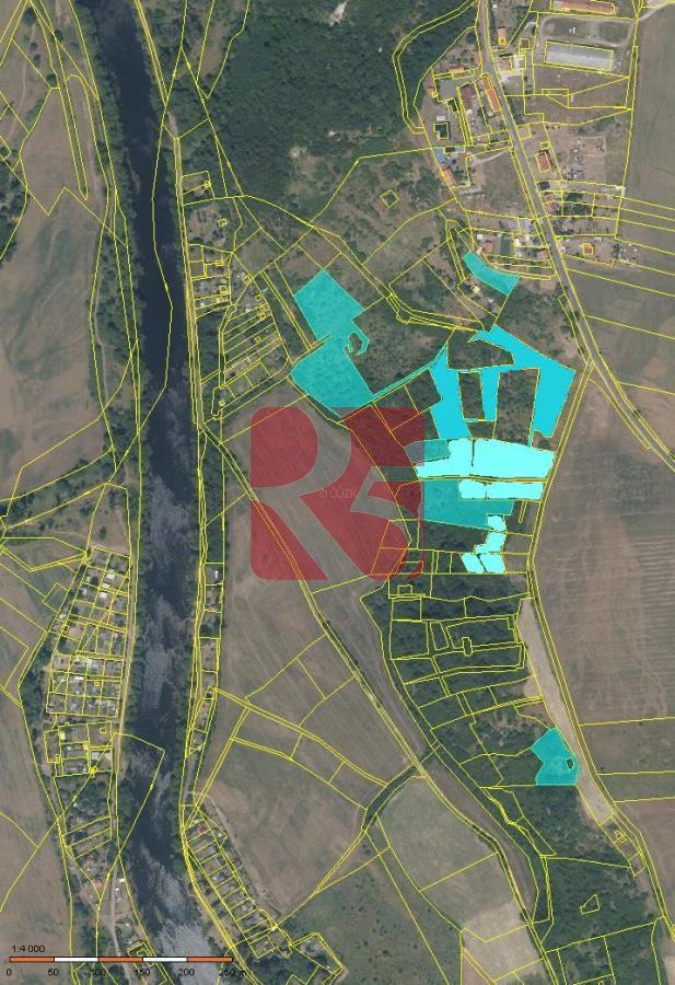 Pozemky s výhledem, 3,4 ha Žatec, vč. st. parcely