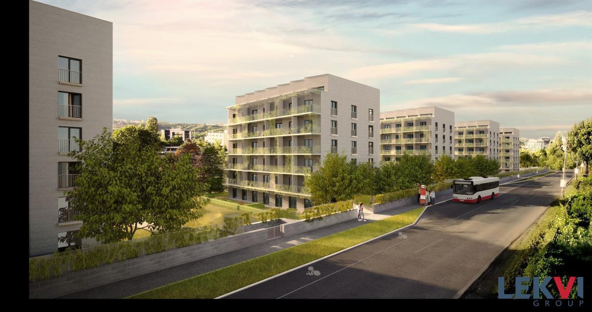 Novostavba 2+kk (43 m2) + balkon (6 m2), garážové stání, sklep
