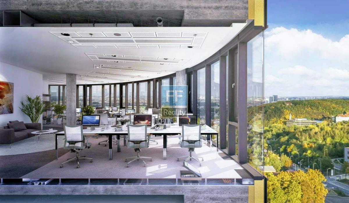 Pronájem kanceláří  1 058m2 v budově Dynamica, Praha 5 - Jinonice.