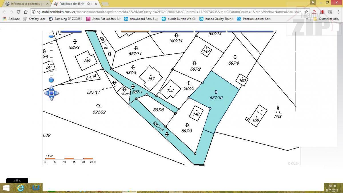 Prodej zahrady 967 m2, Ktová