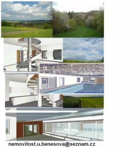Domy na prodej: RD novostavba bydlení v přírodě,320m2,pozemek4802m2,bazén,bus,vlak,D3,občan.vybav.