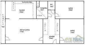 Prodej bytu o velikosti 3+1/L (cca 70m2), OV, Praha 4 – Pankrác, ul. Kotorská